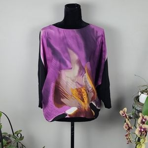 SOYACONCEPT Blouse Purple Black 3/4 Sleeves